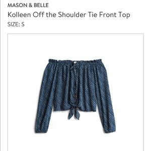 Mason and Belle off the shoulder top
